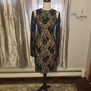 Lace black very conservative dress